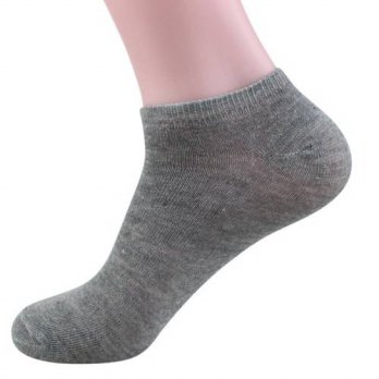 [globalbuy] Mens Low Cut Ankle Ankle/Quarter Crew Socks Black White Gray/4212000