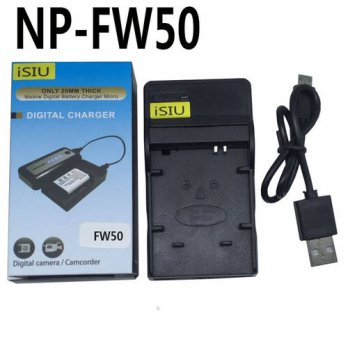 [globalbuy] iSIU NP-FW50 NPFW50 FW50 Battery Charger for Sony Alpha 7 a7R a7k A7 A7R a37 A/3691515