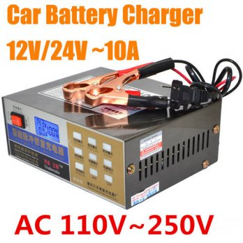 [globalbuy] New 12V/24V Universal Lead-acid Battery Charger Lithium Battery Charger For Ca/3691503