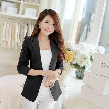 [globalbuy] plus size XXL 2016 hot autumn winter women stylish casual blazer casaco femini/4220185