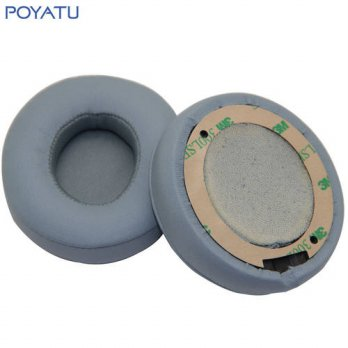[globalbuy] Poyatu Gray Replacement Ear Cushion Earpads Ear Pads Earbuds for Solo 2 Wirele/3691267