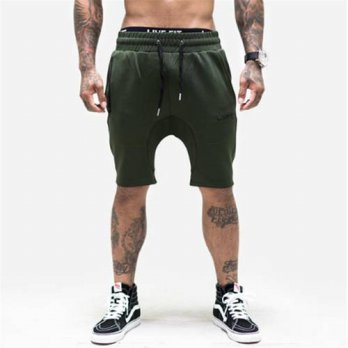 [globalbuy] 2016 New Men Camouflage Gyms Shorts Bodybuilding Knee Lenght Pants Casual Trou/4211918
