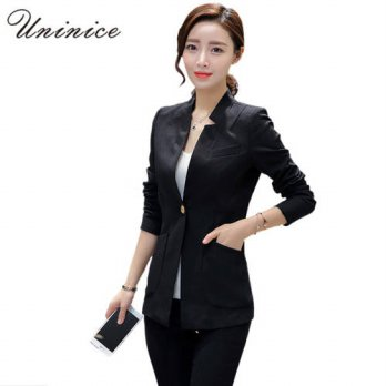[globalbuy] cheap OL style women blazers and jackets balck white green slim coat korean ou/4207372