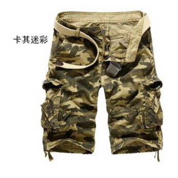 [globalbuy] 2015 Summer Mens Army Cargo shorts Work Casual Bermuda Shorts Men Fashion Over/4211608