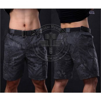 [globalbuy] Tactical Camouflage Capri Shorts Men Cotton Polyester Cropped Quick Dry Shorts/4211605