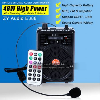 [globalbuy] 48W 2200mAh Waistband Headset Microphone Special Amplifier For Guide Teacher E/3690826
