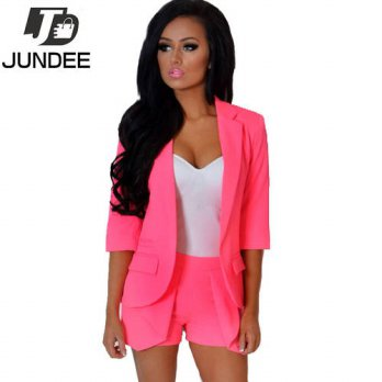 [globalbuy] retail 2016 Spring Autumn Womens Ladies Candy Color Stylish Casual Slim Suit J/4206944