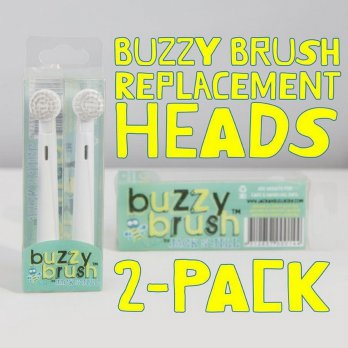 (Diskon) Jack N' Jill Buzzy Brush - 2 Replacement Heads for Electric Toothbrush