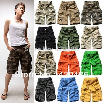 [globalbuy] 2015 Summer Mens Boys Fashion Casual Loose Camouflage Vintage mens Military ca/4211511