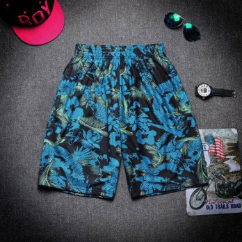 [globalbuy] Summer 3D Blue Sky Green Camo Cashew National Shorts Male Fashion Print Letter/4211574