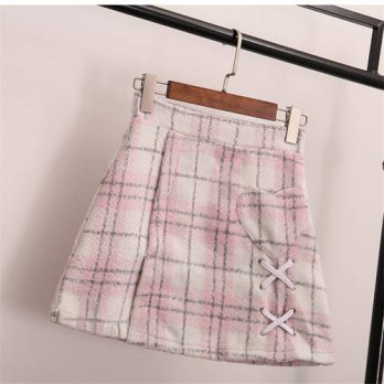 [globalbuy] 2016 Korea &Japanese Style Harajuku A-line Pink Skirts For Lovely Girl Autumn /4202579