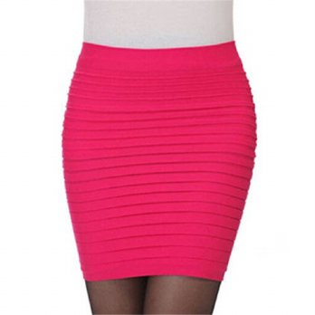 [globalbuy] Hot Sale Women Skirt High Waist Slim Hip Pencil Skirts Vintage Bodycon OL Midi/4202549