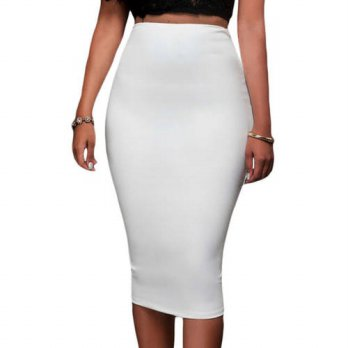 [globalbuy] 2016 Autumn Sexy Slim Pencil Skirts Office High Waist Solid Skirt Casual Slim /4202547