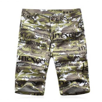 [globalbuy] 2016 Men Summer Beach Shorts Mens Casual Fashion Slim Fit Large Size Printing /4211455