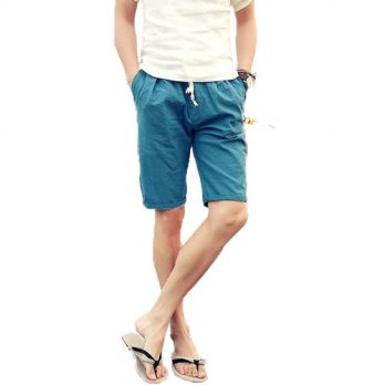 [globalbuy] Summer New Arrival Linen Men Short Pants Big Size 4XL Comfort Breathe Freely F/4211448