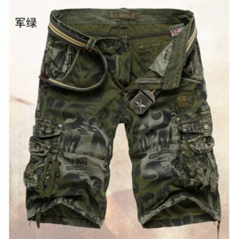 [globalbuy] 2016 Promotion Pockets train Shorts Men train Summer Mens Army Cargo Shorts Wo/4211443