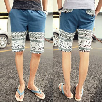 [globalbuy] Hot Sale Summer New 2016 Men Beach Floral Shorts Men Casual Dress Cotton Men S/4211442