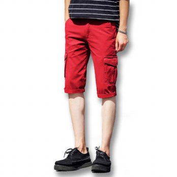 [globalbuy] 2016 New Men Overalls Trousers Summer Shorts Mens Casual Fashion Slim Fit Summ/4211407