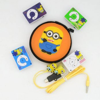 [globalbuy] High Quality Mini Despicable Me Minions Cartoon Anime MP3 Music Players With E/3690376