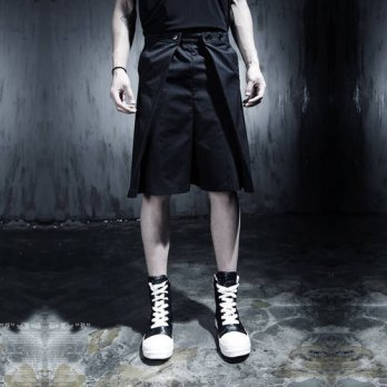 [globalbuy] Fashion short skorts male casual shorts short skirt male costume mens stage si/4211420