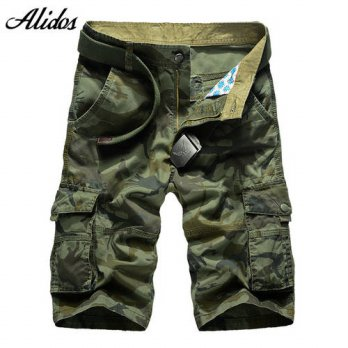 [globalbuy] 2016 New Summer Mens Casual Trousers Mens Military Camouflage Shorts Mens Cott/4211365
