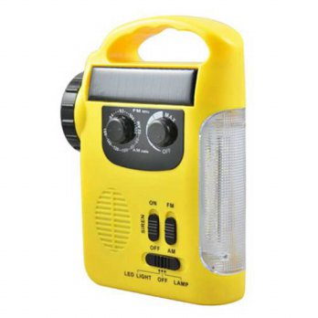 [globalbuy] Solar Radio Hand Crank Self Powered Radio Phone Charger Outdoor Light Portable/3690303