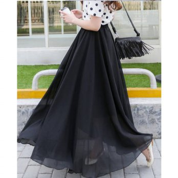 [globalbuy] 30pcs/lot fedex fast Women summer Sexy Chiffon Long Skirt Fashion Hot Sales Bo/4202325