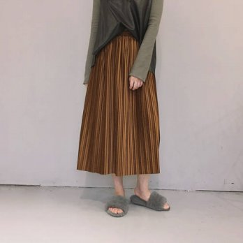 [globalbuy] 2016 Autumn Winter New Fashion Women Midi Length Long Pleated Skirt High Waist/4202248