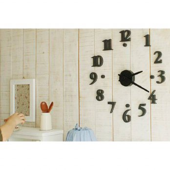 [globalbuy] CES Hot DIY Clock - Black/3690207