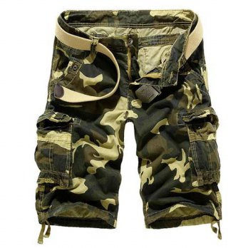 [globalbuy] summer style cargo shorts men 2016 summer casual loose camouflage military sho/4211259