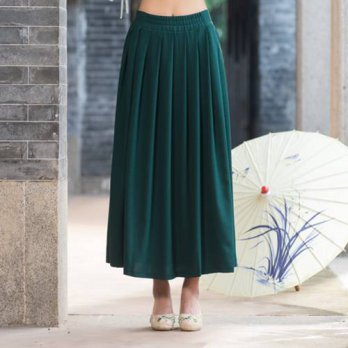 [globalbuy] Traditional Chinese clothing 2016 women autumn spring vintage ethnic long dark/4202053