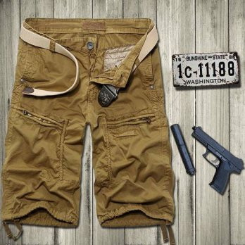[globalbuy] Mens summer shorts Five shorts cotton summer influx of men and tooling multi-p/4211204