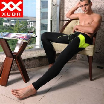 [globalbuy] Mens trousers elastic winter Keep Warm Casual Leisure Bodybuilding Sweat Cueca/4211290