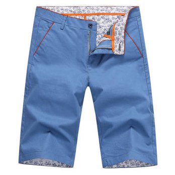 [globalbuy] Summer 2016 mens short mens cotton shorts casual shorts solid business 28cy/4211271
