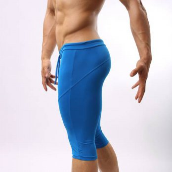 [globalbuy] B2221 Fashion For Men Soft Tights Shorts Trunks Bodybuilding Short Brave Perso/4211265