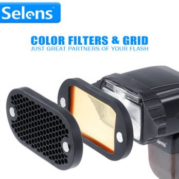[globalbuy] Selens Seven Color Speedlite Filter and Honeycomb Grid with Magnetic Gel Band /3690132
