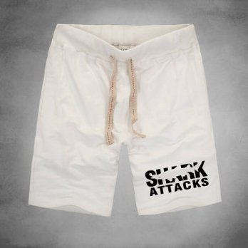 [globalbuy] Shark Attack New Fashion mens shorts 2016 new funny summer style cotton casual/4211246