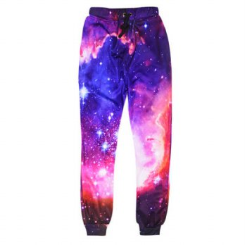 [globalbuy] 2016 Joggers pants 3D graphic galaxy space pants cloud printed 3d punk sweatpa/4210548