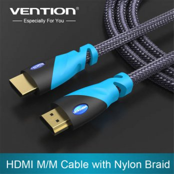 [globalbuy] Vention HDMI Cable 1m 2m 3m 5m Male to Male Gold Plated HDMI 1.4V 1080P 3D for/3689919