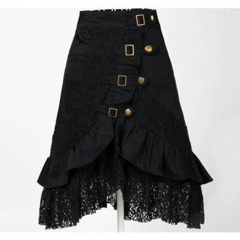 [globalbuy] Wholesale clothing womens party black skirts lace steampunk free dropshipping /4201864