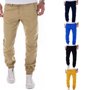 [globalbuy] Plus size M-XXL Mens Cargo Brand Pants Casual Mens Pant Multi Pocket cargos tr/4210508