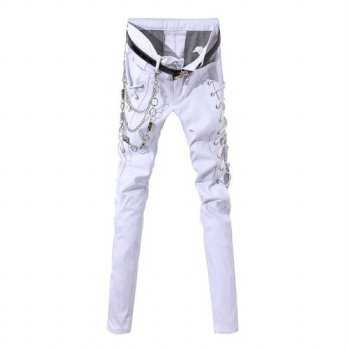 [globalbuy] Zacard Fashion Punk Style Mens Pencil Pants Skinny Silm Autumn Winter Casual P/4210579
