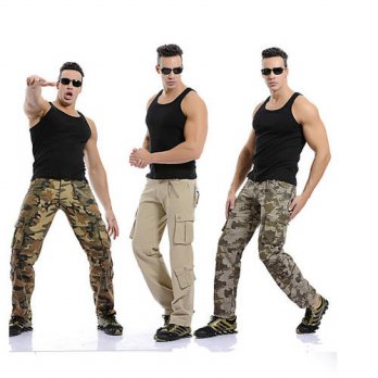 [globalbuy] Mens vintage casual military army cargo camo combat pants trousers navy pants /4210458