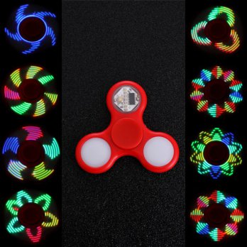 LED Fidget Spinner LED16 Motif LED On Off Spinner Lampu Led I Love You