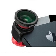 Lesung Fisheye 3 in 1 Photo Lens Quick Change Camera for iPhone 5/5s/SE - LX-I005 - Red