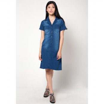 Raffle Jeans Dress - Blue