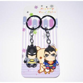Gantungan Tas / Kunci Bag Charm Batman Superman Couple/ Pasangan GB32
