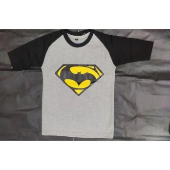 7085 KAOS ANAK LOGO BATMAN GREY genuine kids by OSKOSH