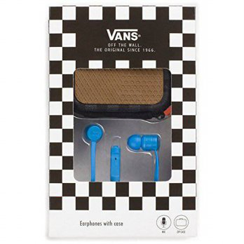 [macyskorea] Vans Off The Wall Earphones w/ MIC and Zip Case - French Blue/14588578
