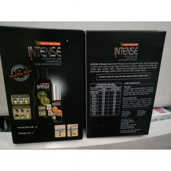 [INTENSE] Intense For Men - Twin Pack (Paket Shampo 200 ml + Hair Tonic 35 ml)